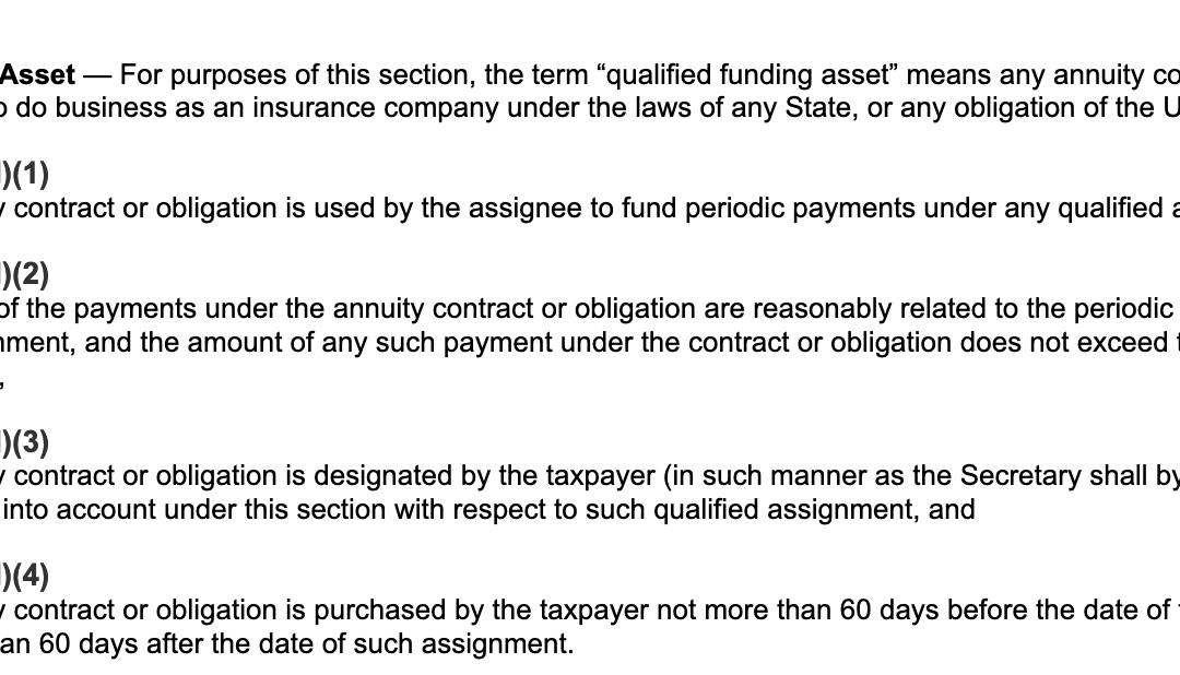 IRC 130(d) Qualified Funding Asset