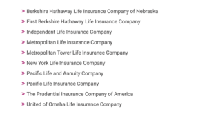 Insurance Companies Who are involved in structured settlements
